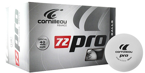 Balles PRO blanches x72