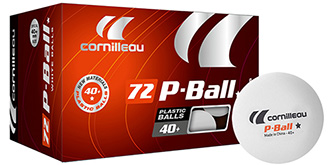 Balles ENTRAINEMENT P-BALL* ITTF blanches x72