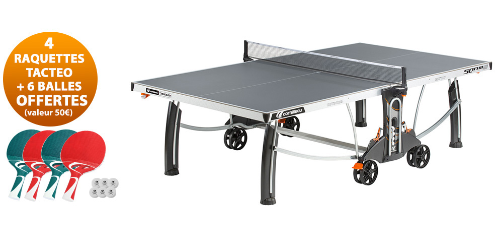 Table ping pong cornilleau sport 500 m crossover exterieur for Housse table de ping pong exterieur