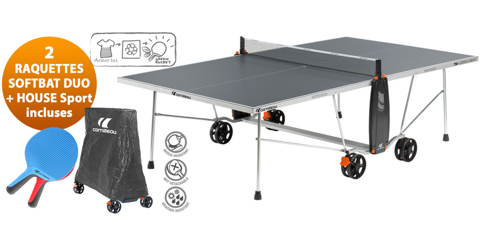 Table ping pong cornilleau sport sdrive s crossover - Table ping pong exterieur ...