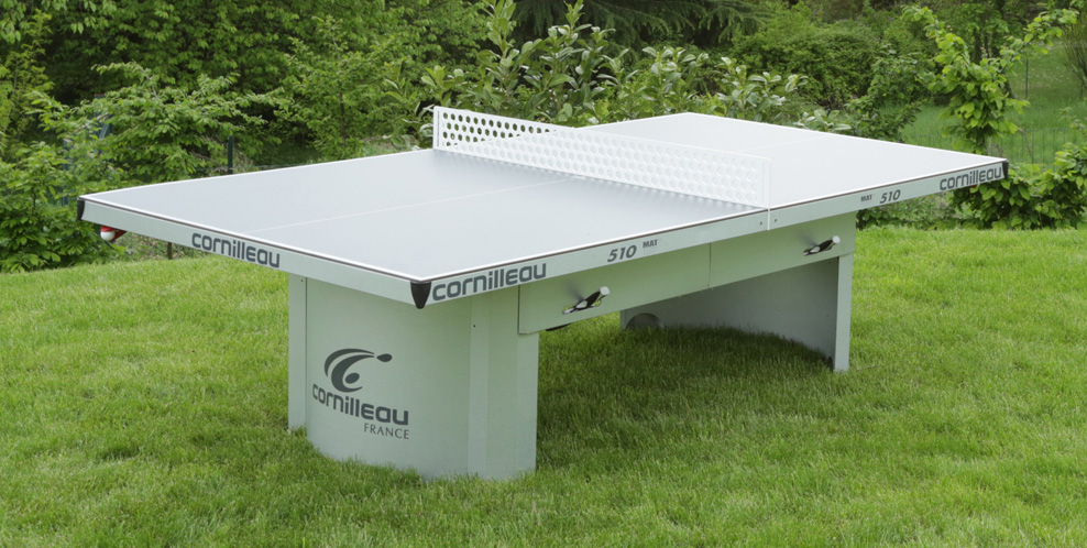 Table ping pong cornilleau 510 exterieur outdoor pro - Table ping pong exterieur beton ...