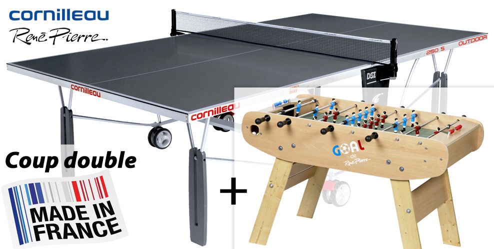 Cornilleau 250 s exterieur table ping pong cornilleau for Housse exterieur table ping pong