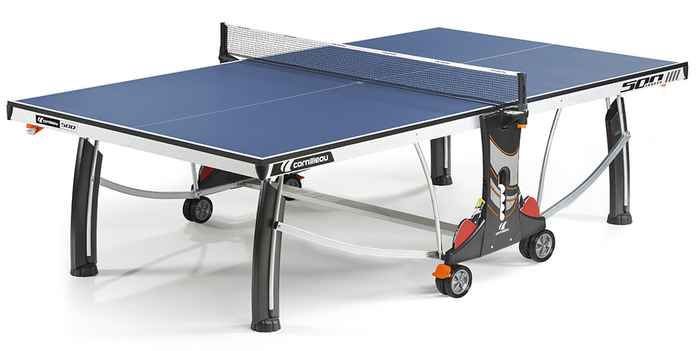 Table ping pong cornilleau 500 interieur indoor loisir for Table de ping pong exterieur intersport